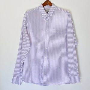 J Crew lavender and white long sleeve button down